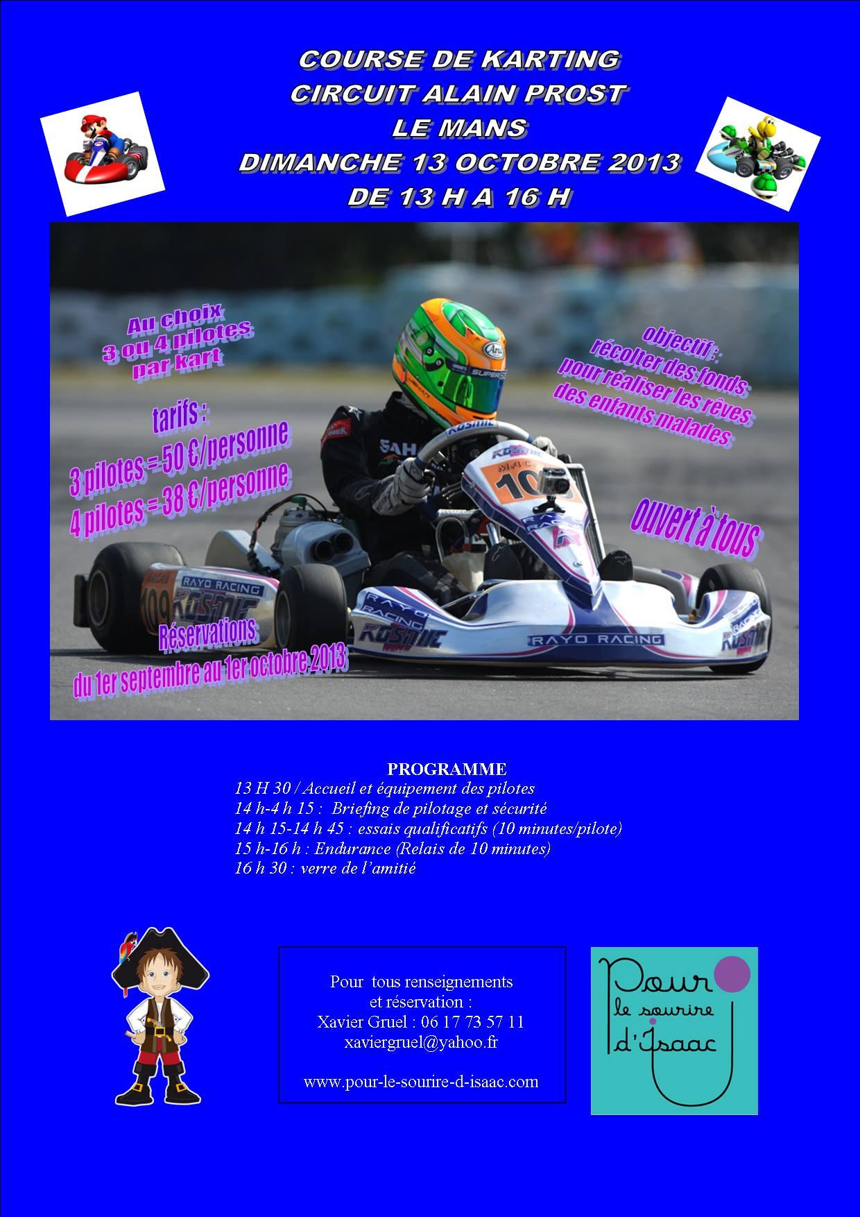 Course de kart au Mans